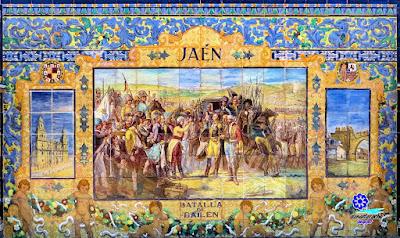 Sevilla - Plaza de España - Banco-azulejo de Jaén - Motivo principal