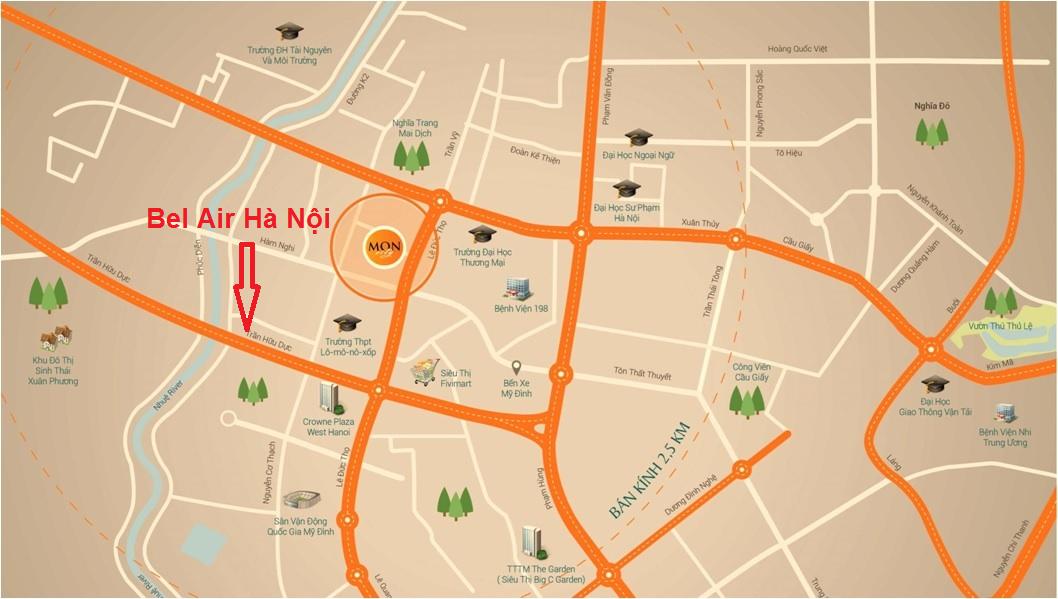 Vị trí chung cư Be Air Hà Nội