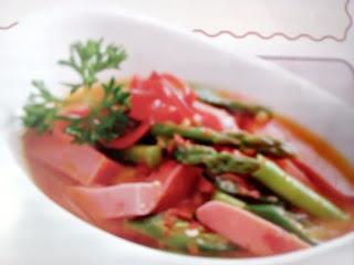 Gambar Resep Tumis Sosis Asparagus