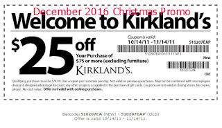 Kirklands coupons december 2016