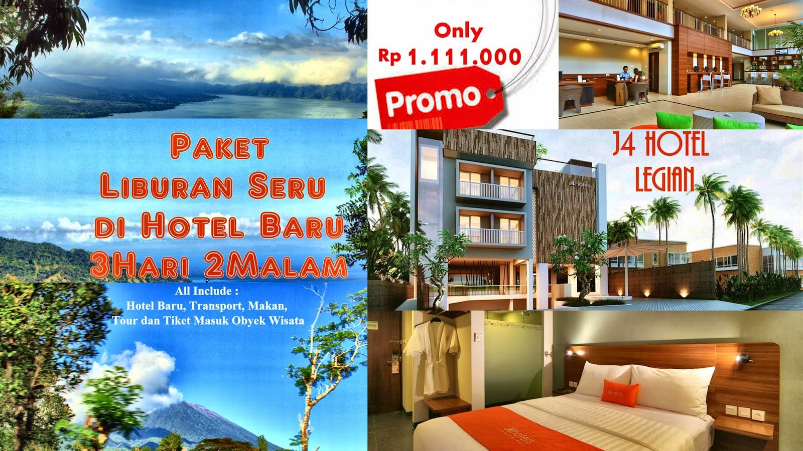 Paket Tour Bali all include 3 hari 2 malam only  Rp 1.111.000
