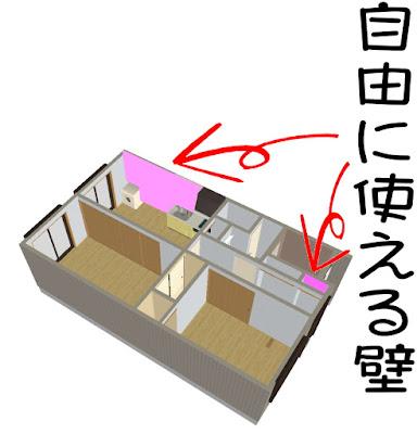 松山市 賃貸 愛光不動産松山店 自由に使える壁のあるキッチン
