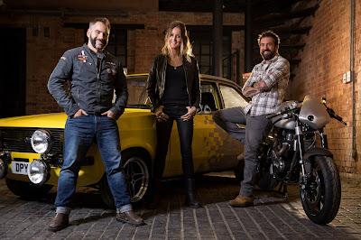 Jimmy de Ville, Ant Partridge e Helen Stanley assumem empreitada e fazem todo o trabalho: da prancheta à oficina - Divulgação