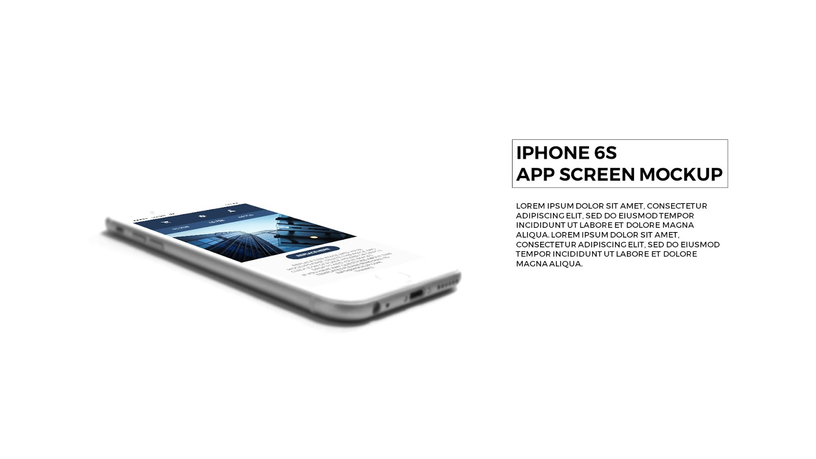 Photo Realistic Iphone 6s Mockup In Powerpoint