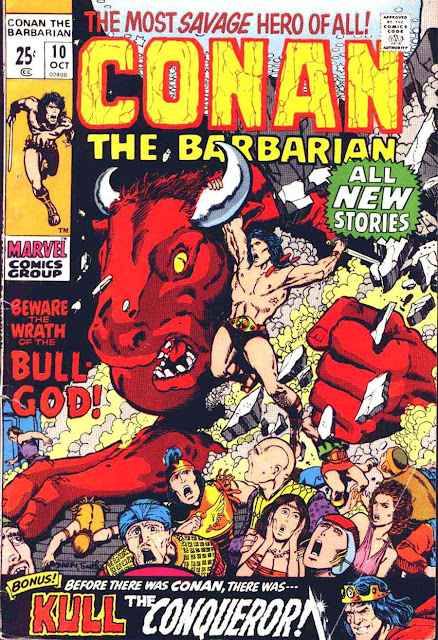 Conan the Barbarian v1 #10 marvel comic book cover art by Barry Windsor Smith