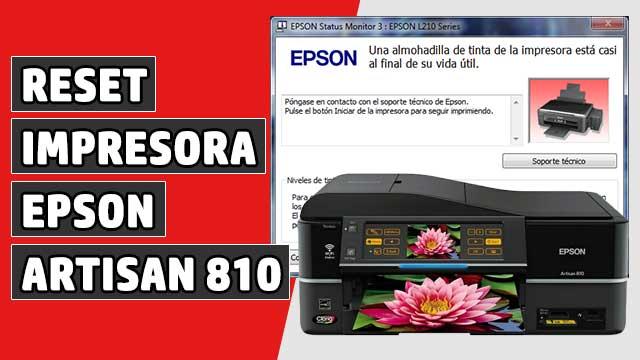 resetear Almohadillas impresora EPSON Artisan 810