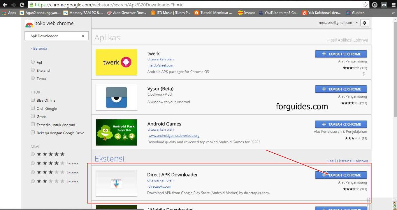 Cara Download File APK di Google Play dari Komputer