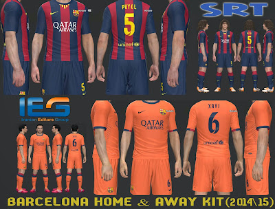 PES 2014 PC  Uniformes Barcelona 2014 2015 • Brazilians W-Patchs 52acbff0b4400
