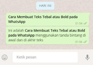 Trik Cara Membuat Teks Tebal Bold di WhatsApp