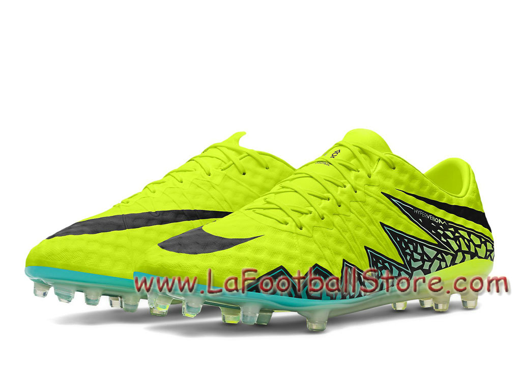 new product 1817c b87cd Nike Hypervenom Phinish II FG Chaussure de football à crampons pour terrain  sec pour Homme Volt 749901 703. Couleur Volt Hyper turquoise Jade ...