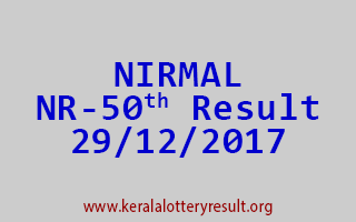 NIRMAL Lottery NR 50 Results 29-12-2017