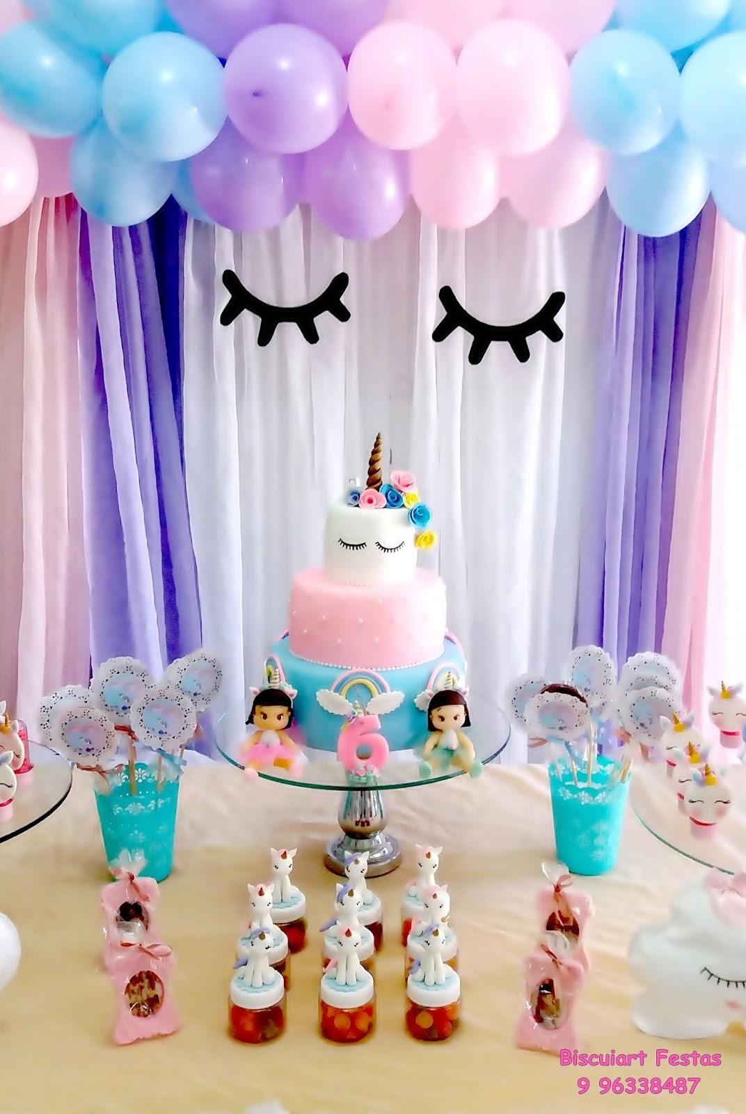 Biscuiart Festas festa unicórnio, decoraç u00e3o unicórnio, mimos unicórnio, bolo unicórnio # Decoração De Festa Unicórnio Infantil