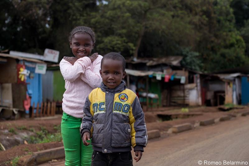 Neighborhood Children Volunteering in Kenya with Freedom Global