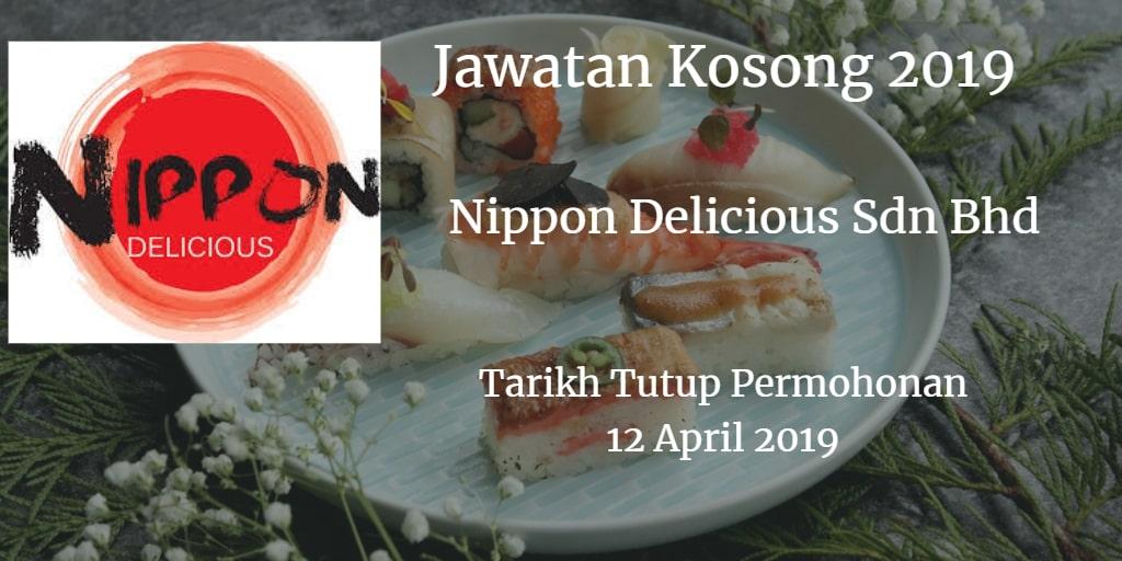 Jawatan Kosong Nippon Delicious Sdn Bhd 12 April 2019