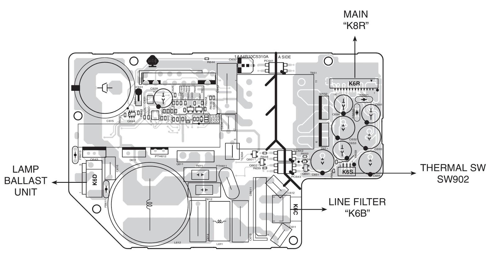dell power supply wiring diagram sanyo power supply wiring diagram sanyo plc xu87 projector - power supply - schematic ...