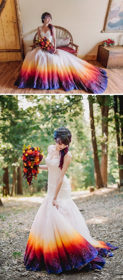 K'Mich Weddings - wedding dresses -dyed