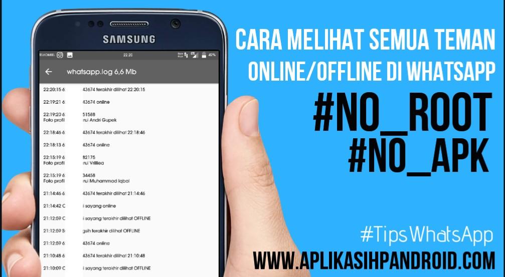 Cara melihat semua daftar teman yang sedang online di WA tanpa aplikasi