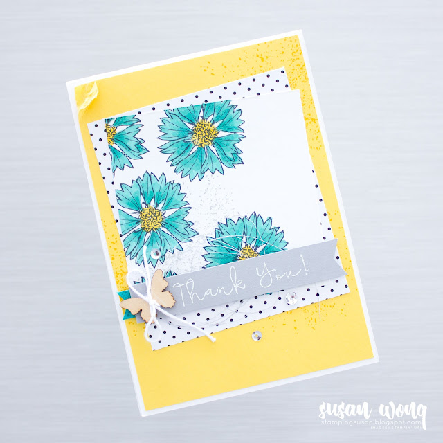 Another Wonderful Year + Touches of Texture by Stampin' Up! - Thank You Card by Susan Wong
