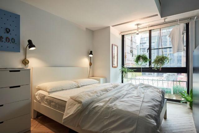 reforma piso pequeño transformado en loft, dormitorio