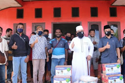 Helmi Hasan dan Dedy Wahyudi Berikan Bantuan Beras dan Mie ke Mahasiswa Papua di Kota Bengkulu