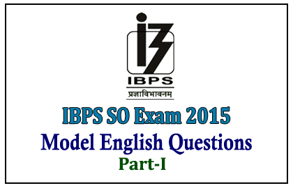 IBPS Specialist Officers Exam 2015