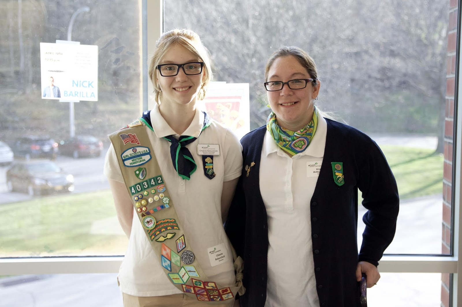 Girl scouts western pennsylvania new girl scout elected to chianne boburchock poses with her mother krystal boburchock at the girl scouts western pennsylvania gswpa annual meeting where chianne was elected to publicscrutiny Gallery