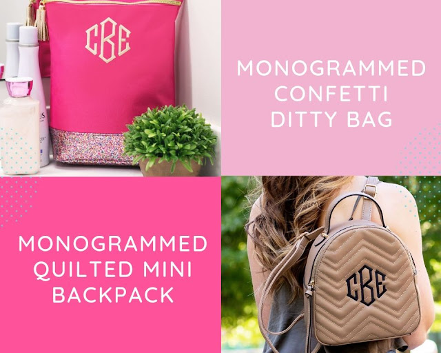 monogrammed quilted mini backpack