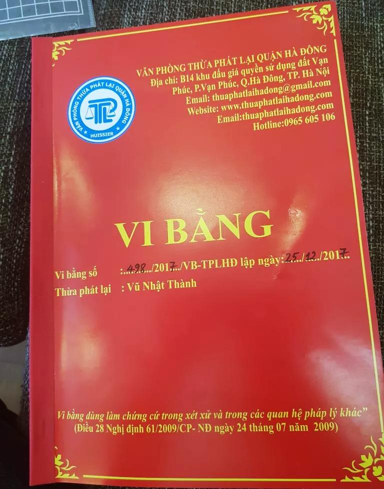 Vi bằng dịch vụ Nam An Khánh