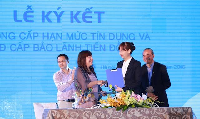 Ký kết tín dụng với Ngân hàng CPTM Sài Gòn Hà Nội