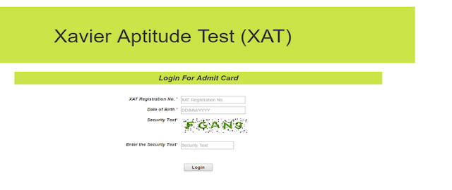XAT Admit Card 2018