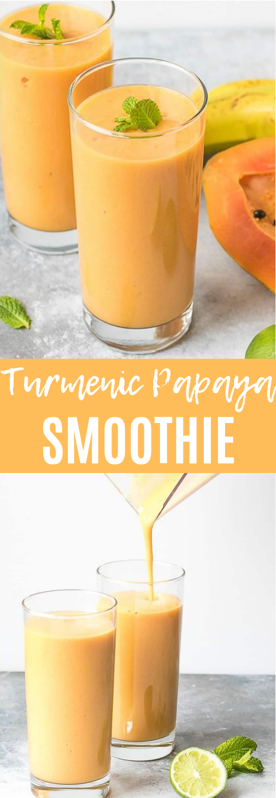 Turmeric Papaya Smoothie #healthy #drink
