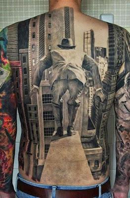tatuaje de personaje de los 50