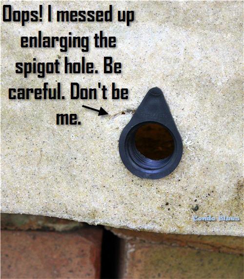 how to replace a rain barrel spigot