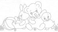 """""""desenho de pato com urso e coelho"""""""