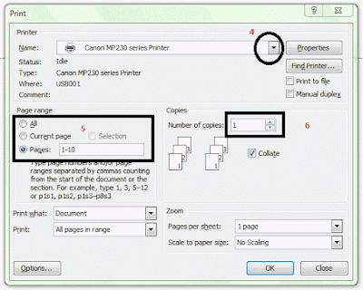 Cara Mencetak atau print Dokumen Dari Microsoft Word Lengkap