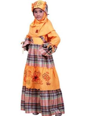 contoh desain baju muslim anak