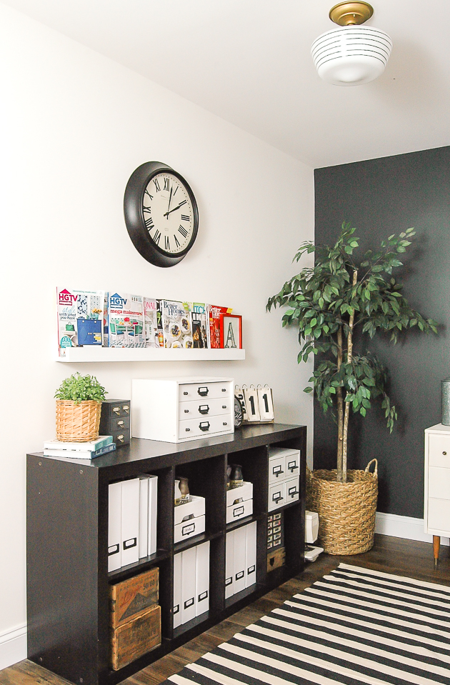 Thrifty modern industrial farmhouse office reveal