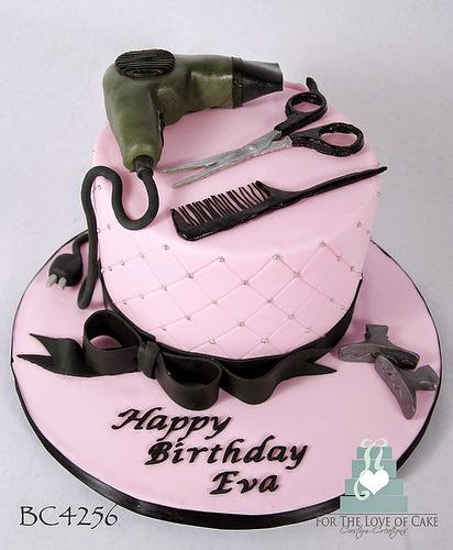 Hair Salon Birthday Cake