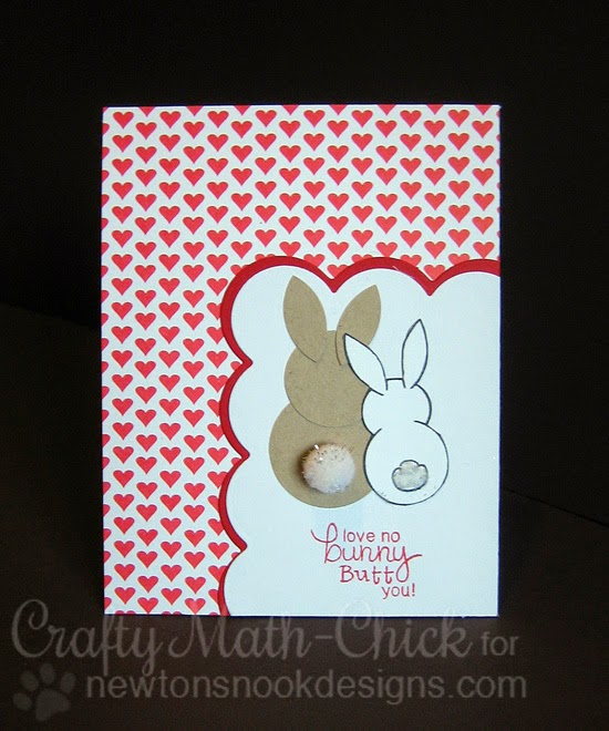 Bunny Butt card by Crafty Math Chick | Bunny Hop Stamp set by Newton's Nook Designs