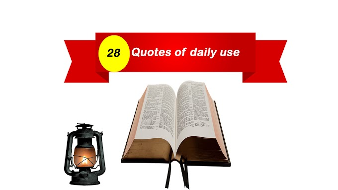 28 Quotes of Daily Use in English