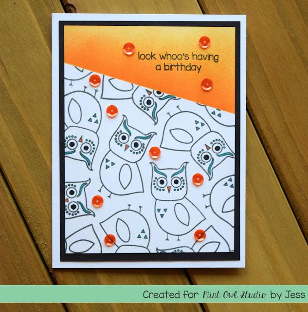 Owl Birthday Card by Jess Crafts for Mint Owl Studio