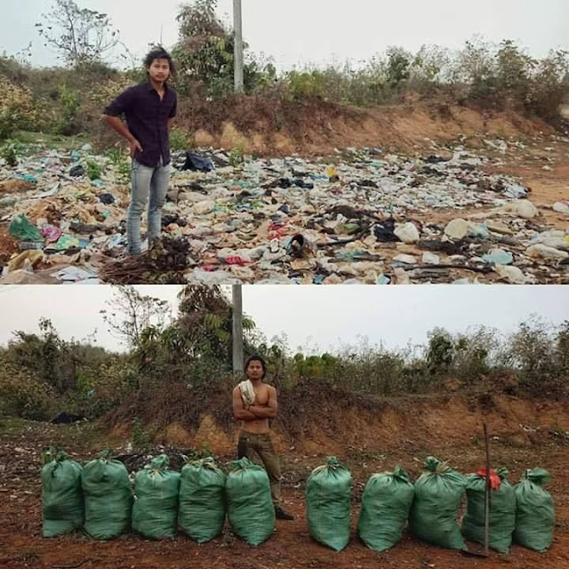 Challenge for Change' rubbish clean-up