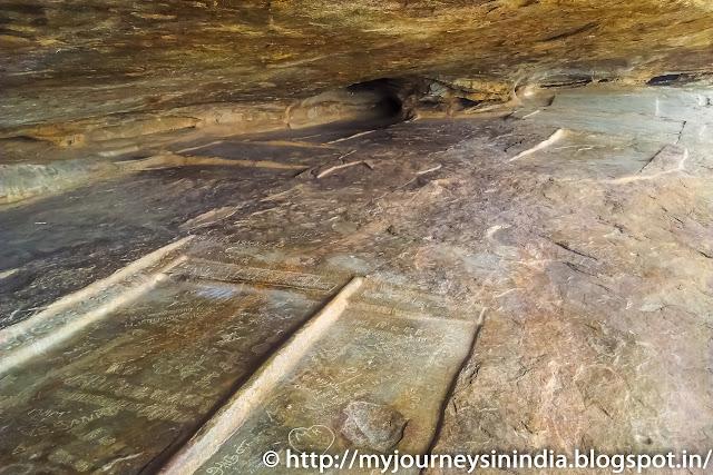 Sithanavasal bedrock or Samanar Padukkai