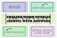 English Word Puzzles (Rebus) with answers