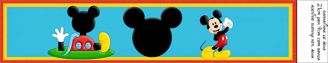 Mickey Club House Birthday Party: Free Printable Candy Bar Labels.