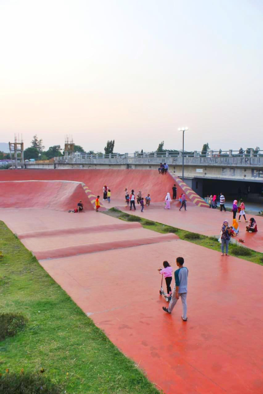 Bmx arena, skate park,  taman brantas kediri