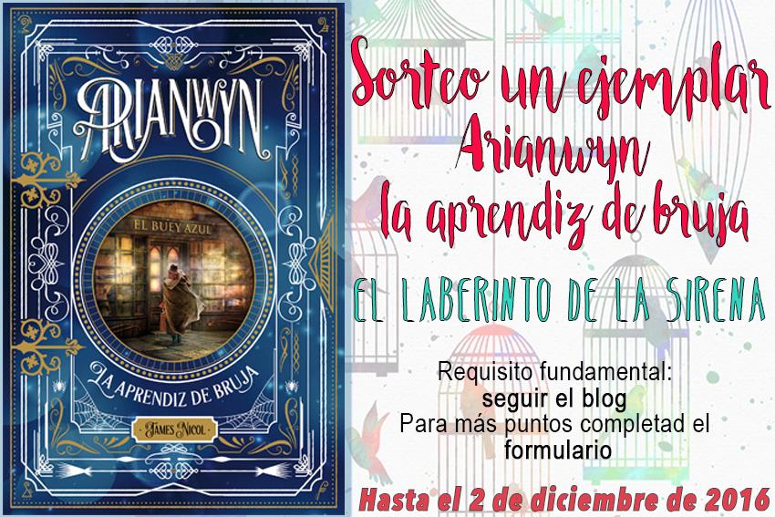 #Sorteo - Un ejemplar de Arianwyn, la aprendiz de bruja