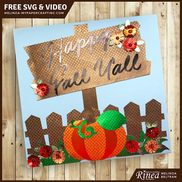 Fall Sign with FREE SVG