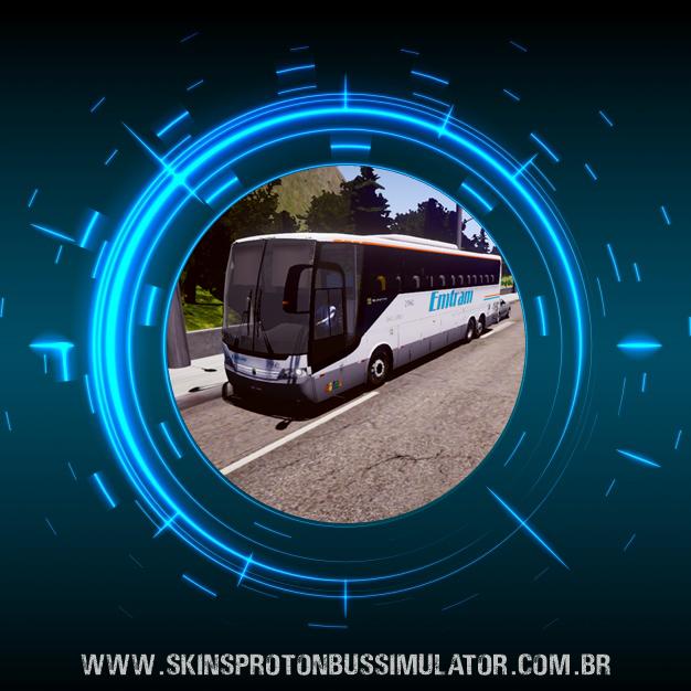 Skin Proton Bus Simulator Road - Vissta Buss HI O-500 RSD Viação Emtram