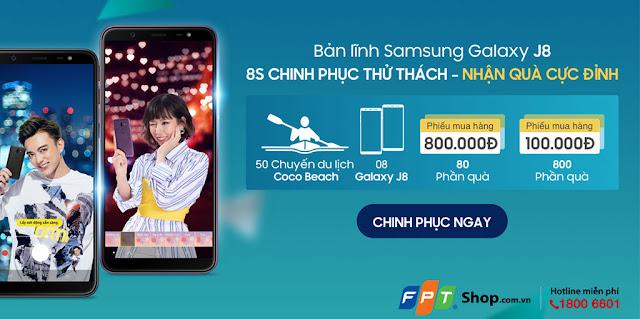 FPT Shop tổ chức minigame online tặng 50 chuyến du lịch, Galaxy J8 và phiếu mua hàng 800.000đ